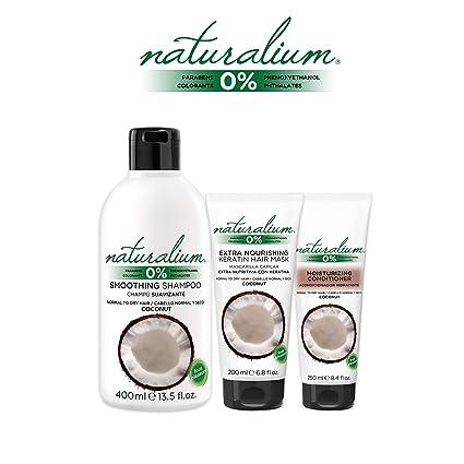Naturalium PACK Cuidado Capilar Coco - Kit para el Cabello con Champú Suavizante 400 ml +