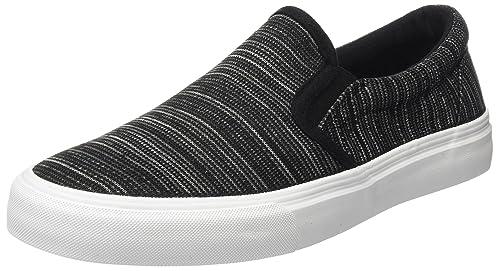 Springfield Slip On Fashion Fabric, Zapatillas para Hombre, Negro (Black), 42 EU: Amazon.es: Zapatos y complementos