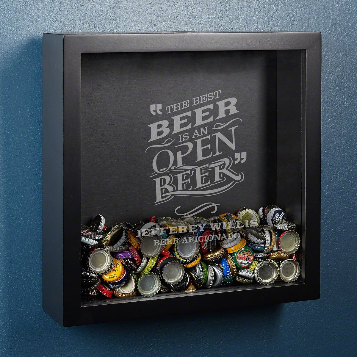 Best Beer Personalized Bottle Cap Shadow Box by HomeWetBar - Perfect for Beer Lovers