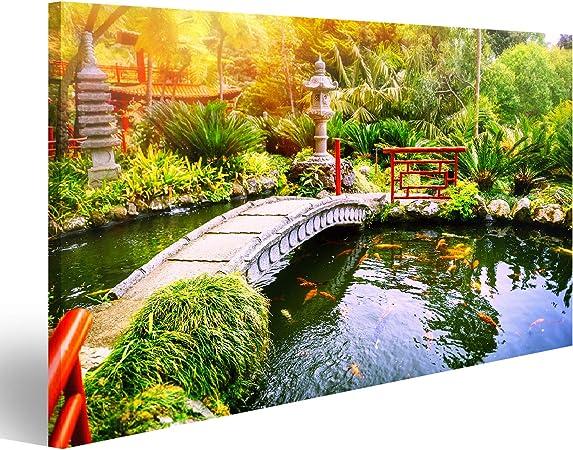 Cuadro Cuadros Jardín japonés con Peces koi Nadando en el Estanque. Fondo de la Naturaleza PIG-1K-DE: Amazon.es: Hogar