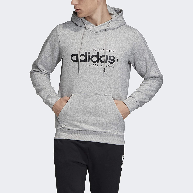 Medium grau Heather XL adidas Herren Brilliant Basic Hooded Sweatshirt Kapuzenpul r