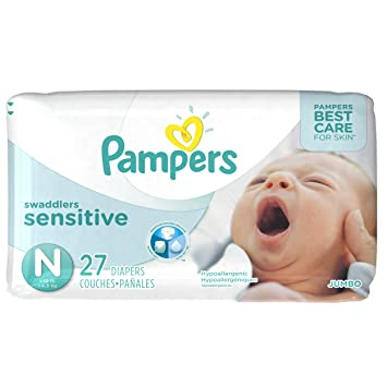 Amazon.com: Pampers Swaddlers Newborn Diapers Size 0 27 count ...
