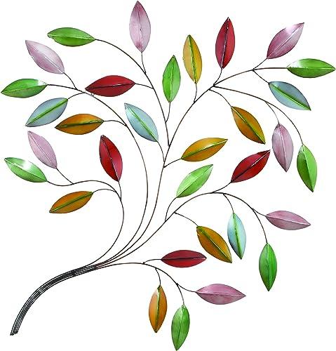 Benzara Metal Leaf Wall Decor a Natural Beauty