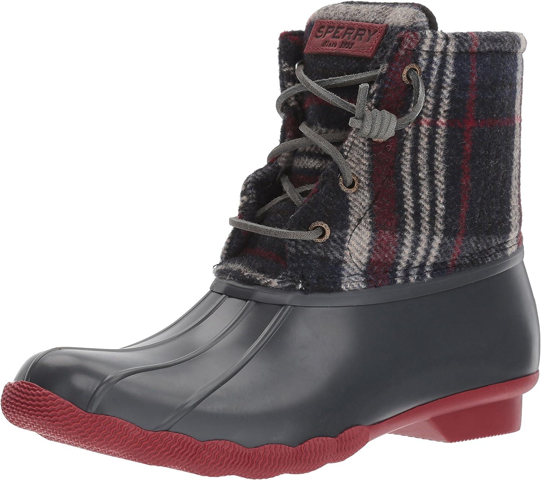 Saltwater Wool Plaid Rain Boot