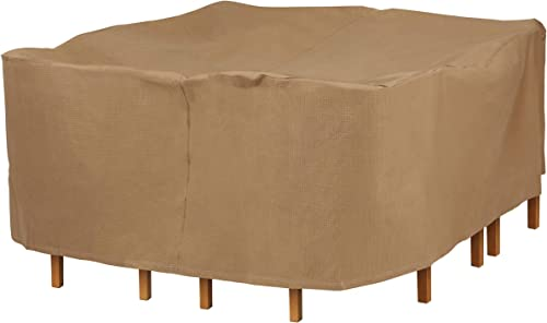Duck Covers Essential Water-Resistant 92 Inch Square Table Chair Set Cover