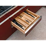 Rev-A-Shelf 4WUT-3 Wood Cabinet Drawer Utility Tray Insert, Large, Natural