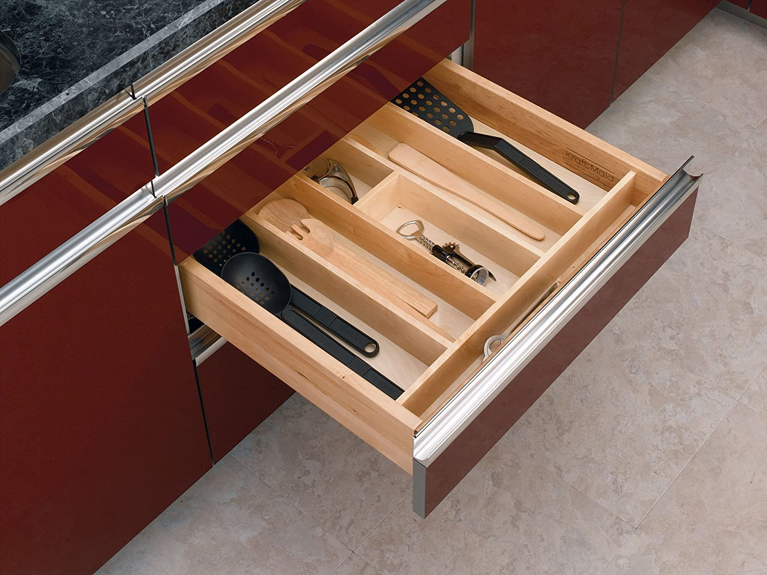 Amazon.com: Rev-A-Shelf 4WUT-3 Wood Cabinet Drawer Utility Tray ...