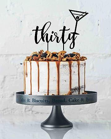 Monsety Tortenaufsatz Zum 30 Geburtstag Dirty Thirty 30th Martini