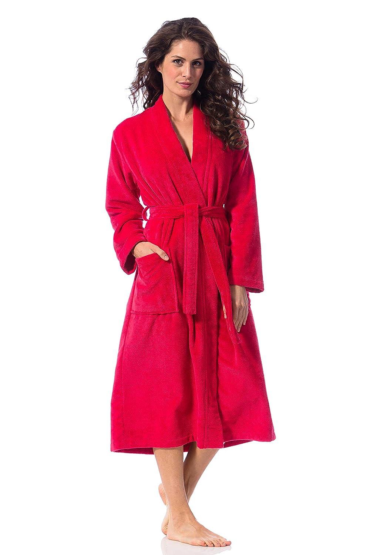 b68dfa462589f8 Morgenstern, Damen Bademantel mit Kimono - Kragen, lang, Farbe ...