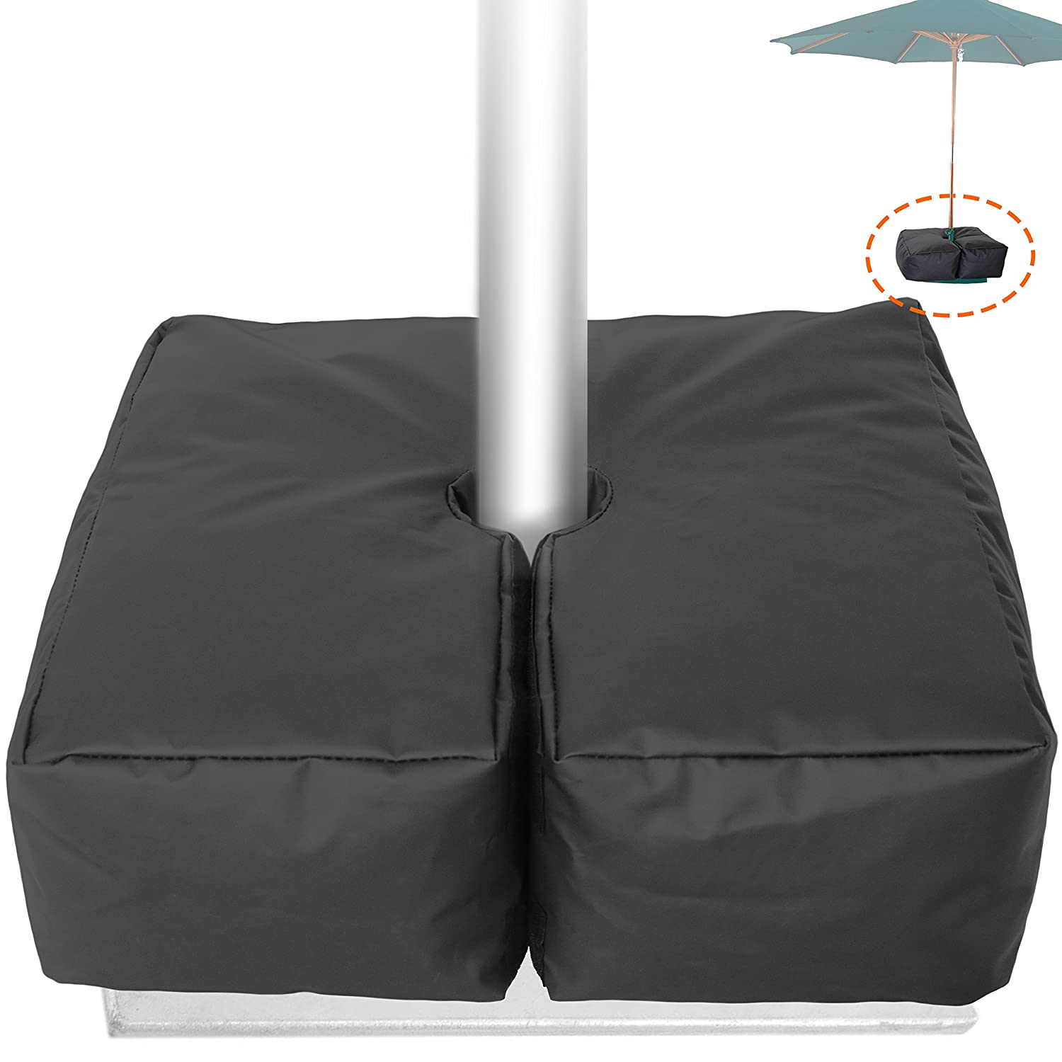 Weather Resistant Weights for Patio Umbrella Base - 19'' Square. for  Classic Outdoor Umbrellas, Hanging, Cantilever & Offset Models. - Amazon.com : Weather Resistant Weights For Patio Umbrella Base - 19
