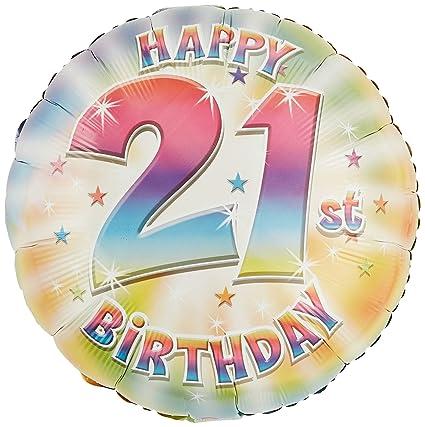 Amazon Anagram International Hx Happy 21st Birthday Balloon