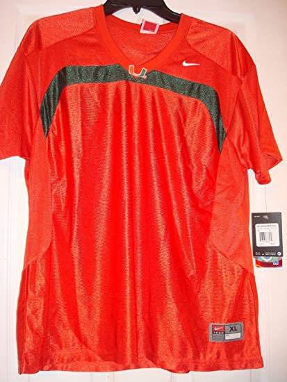 b09ed868a3f3 Image Unavailable. Image not available for. Color  NIKE NCAA MIAMI  HURRICANES WOMEN S MEDIUM ORANGE FOOTBALL JERSEY