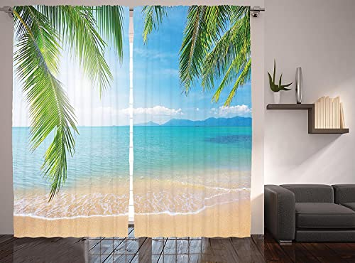 Ambesonne Tropical Curtains