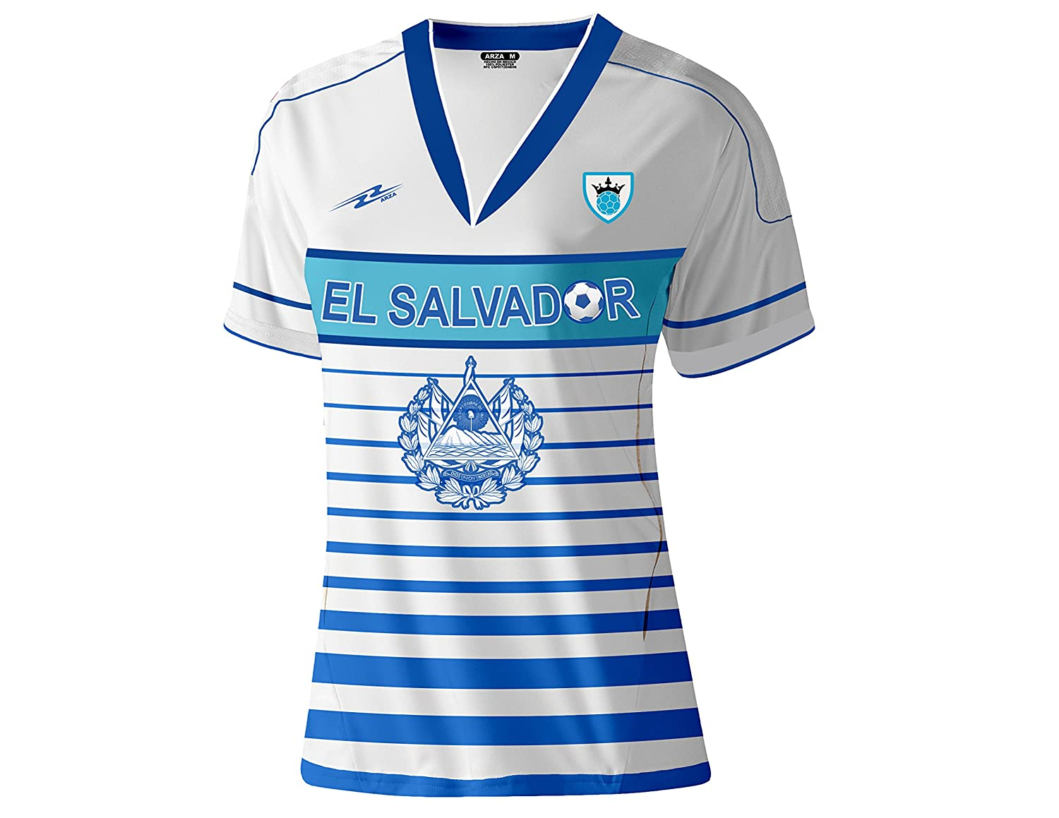 7795f5cc1 ... Amazon.com El Salvador Slim Women Soccer Jersey Exclusive Design  Clothing ...