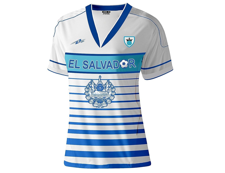 a1bba126f ... Amazon.com El Salvador Slim Women Soccer Jersey Exclusive Design  Clothing ...