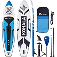 Runwave Inflatable Stand Up Paddle Board 11'×33''×6''(6'' Thick) Non-Slip Deck with Premium SUP Accessories | Wide…
