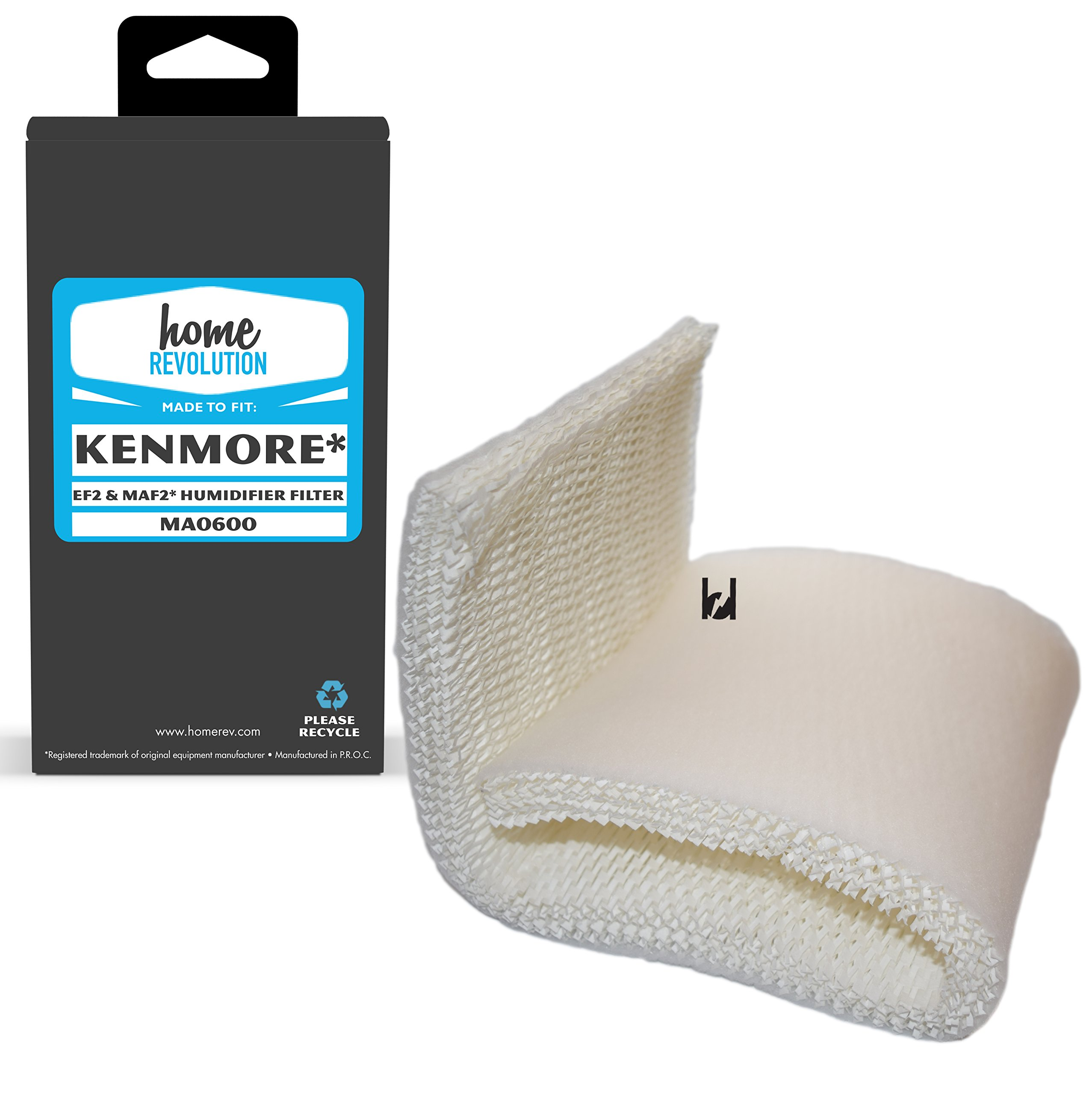 Kenmore EF2 and Emerson MAF2 Part # MA0600, 0800 and 80000 for Kenmore 15408, 154080, 17006, 29706, 29988 and 29880C, Comparable Washable Filter. Home Revolution Brand Quality Aftermarket Replacement