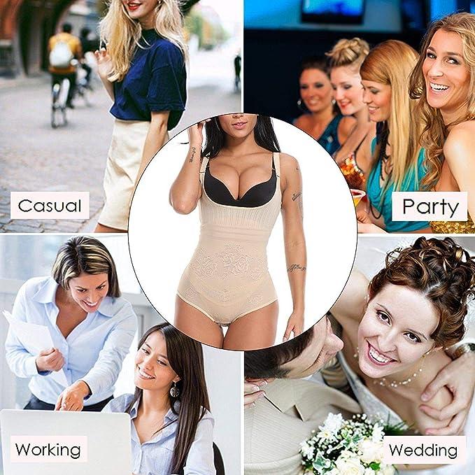 b17259d73f5c7 EJZO Lady Firm Control Full Body Shaper Waist Trainer Shaper Corset Cincher  Shapewear at Amazon Women s Clothing store