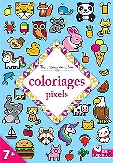 Amazonfr Unicorn Pixel Art Colour Unicorns By Numbers