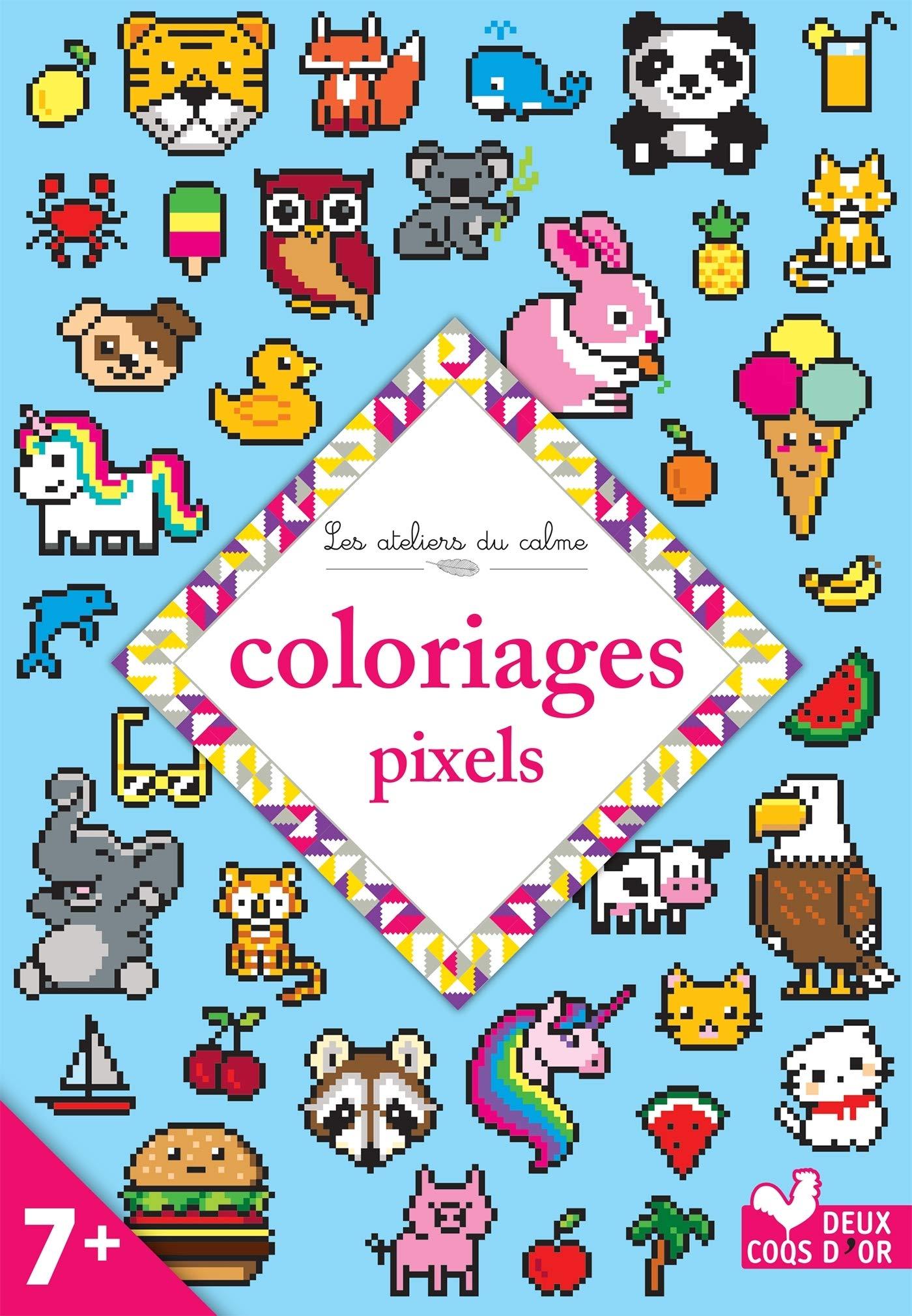 Coloriages Pixels 7 Collectif 9782017073024 Books
