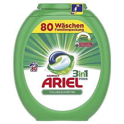 Ariel 3 in1 Pods Detergente Familia Paquete, 80 lavados