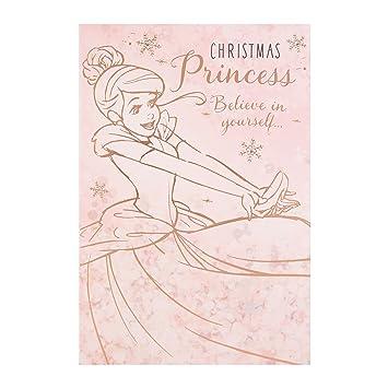 Weihnachtsgrüße Disney.Hallmark Medium Believe In Yourself Disney Princess Christmas Card