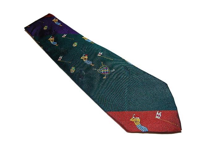 Ralph Lauren Polo Corbata de seda para hombre, diseño de golf ...