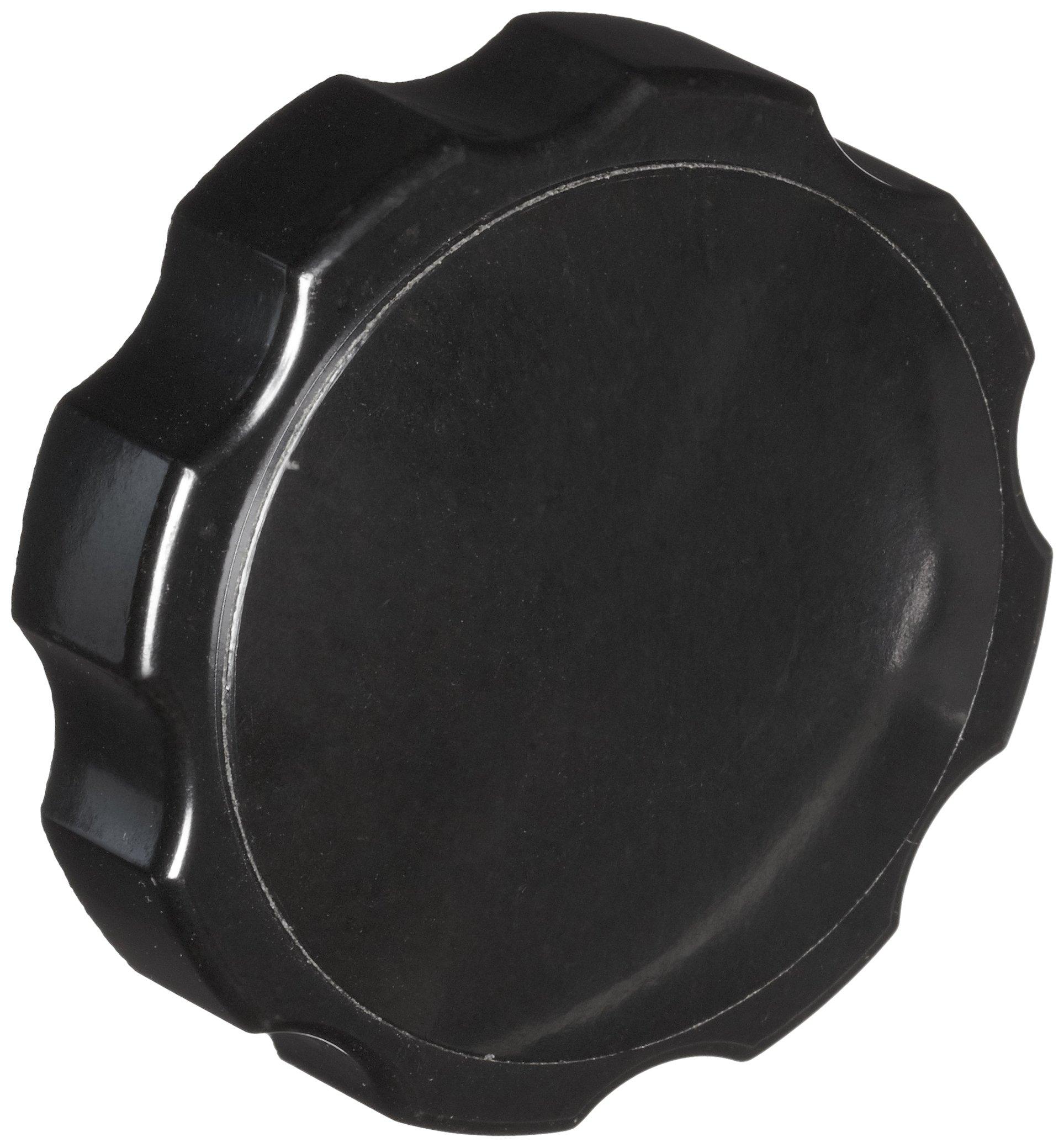 DimcoGray Black Phenolic Fluted Torque Knob, Brass Insert: 3/8-16'' Thread x 1/2'' Depth, 2-3/8'' Diameter x 1-5/16'' Height x 1-1/4'' Hub Dia x 5/8'' Hub Length (Pack of 10)