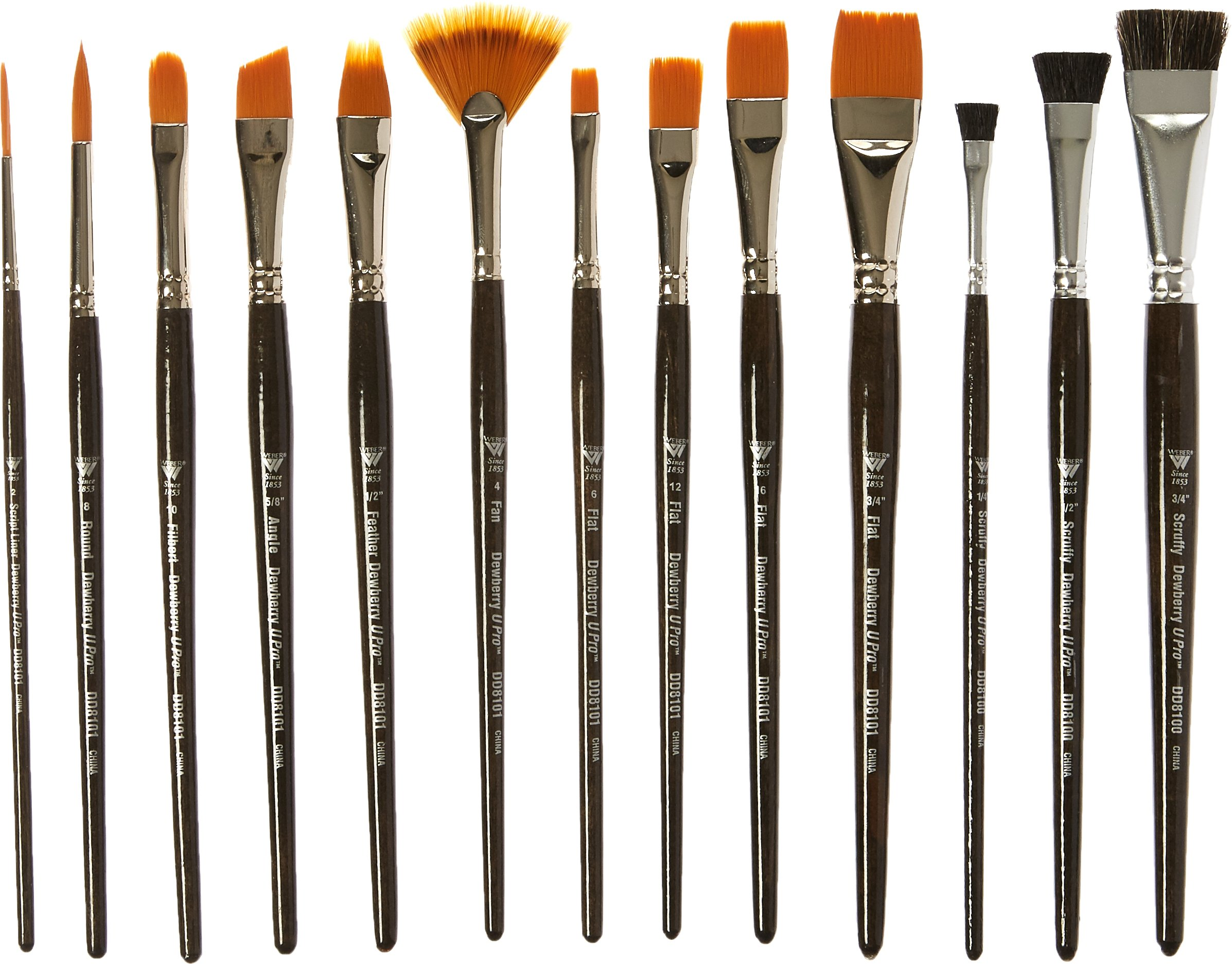 Weber DD8100 Donna Dewberry Professional Brush Set, 13 Per Package by Weber