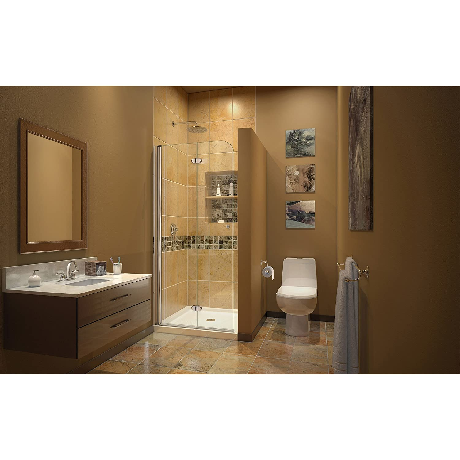 Dreamline Aqua Fold 29 12 In W X 72 In H Frameless Bi Fold Shower