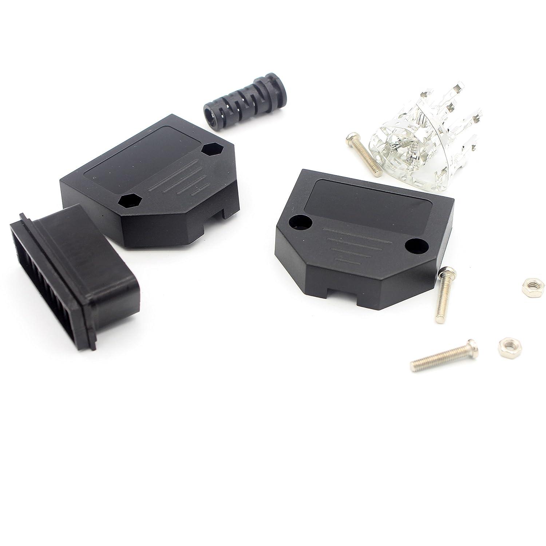 LoongGate Super Mince OBD II connecteur Femelle 16/Broches c/âblage Adaptateur Prise pour Appareil de Diagnostic OBD2/ou c/âble