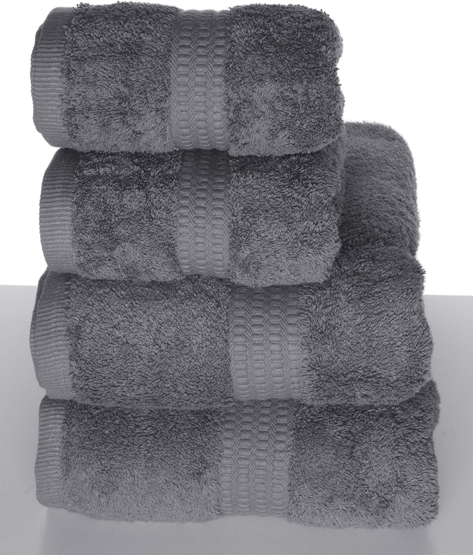 2 Badet/ücher PimpamTex Handtuch-Set Premium 2 Handt/ücher 100/% Baumwolle 700g//m/² Dunkelgrau