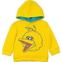 Sesame Street Fleece Pullover Hoodie: Elmo Big Bird Oscar Cookie Monster Grover