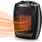 Space Heaters for Indoor Use - Up to 190 sqft, Electric Heating Heater, Tip-Over & Overheat Shut-off, 3 Modes Adjustable…