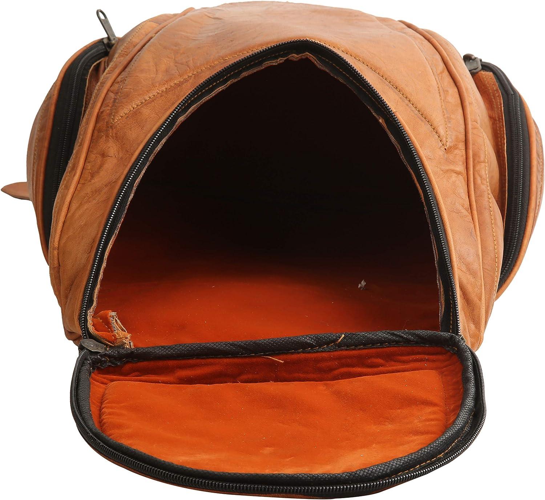 Goat Leather Backpack Handmade College Student Travel Backpack Unisex