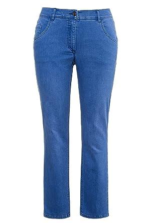 Ulla Popken Women's Plus Size Brushed Stretch Denim Jeans