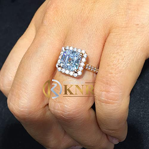 6ce94798ad3f3 Amazon.com: 14k Rose Gold Asscher Cut Forever One Moissanite and ...