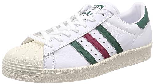 TG. 38 2/3 EU adidas Superstar 80s Gum Outsole Scarpe Sportive Uomo Bianco