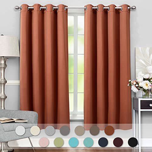 Attrayant VEEYOO Thermal Insulated Curtains Blackout Window Curtains And Drapes With  Tiebacks For Living Room, 2