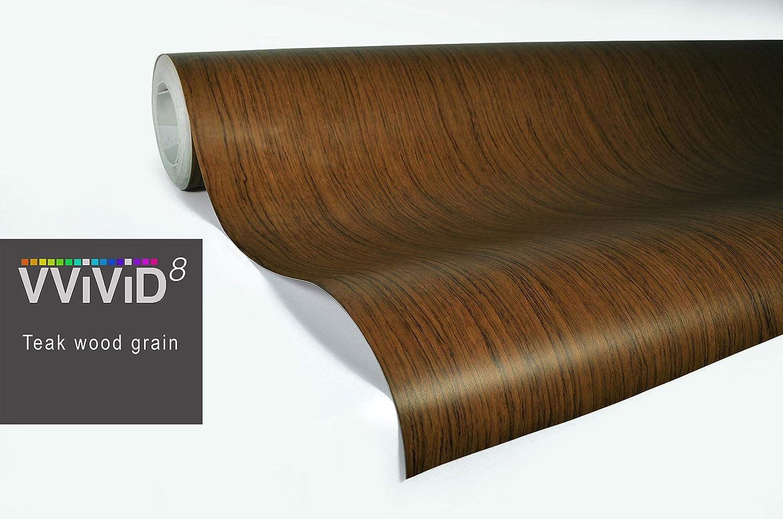 Vvivid Xpo Teak Wood Grain Vinyl Wrap Decal