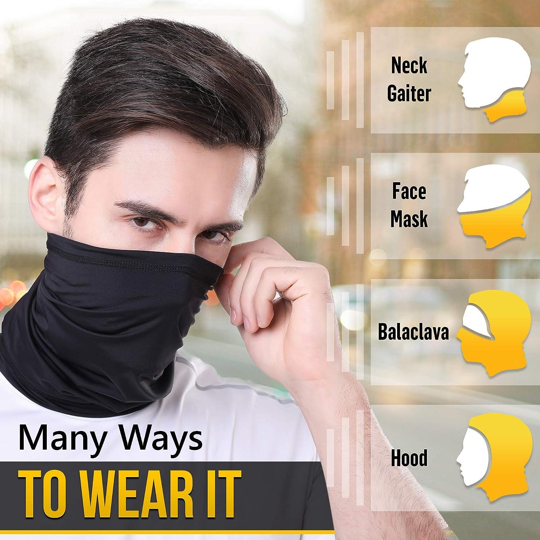 Neck Gaiter Cool Face Mask for Men & Women SPF50+ Face Coverings Summer Neck Mask Gator