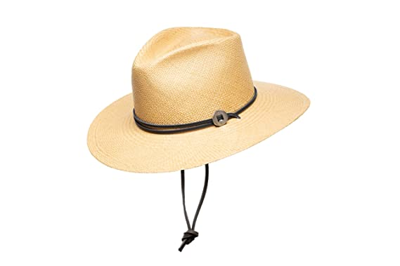 f4fcbdb20e471 Jamie Slye The Phoebe Panama Straw Hat with Leather Chin Strap at ...