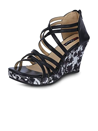 Get Glamr Women s Black Wedges  Buy Online at Low Prices in India ... 10c06808fa