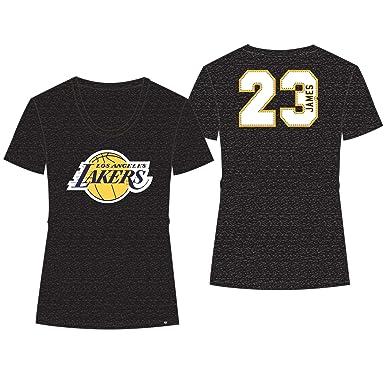Amazon.com   47  Women s NBA Los Angeles Lakers Lebron James T Shirt ... fc3b3b8c5