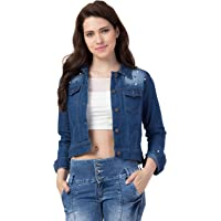 FUNDAY FASHION Self Design Stone Women Denim Jacket…