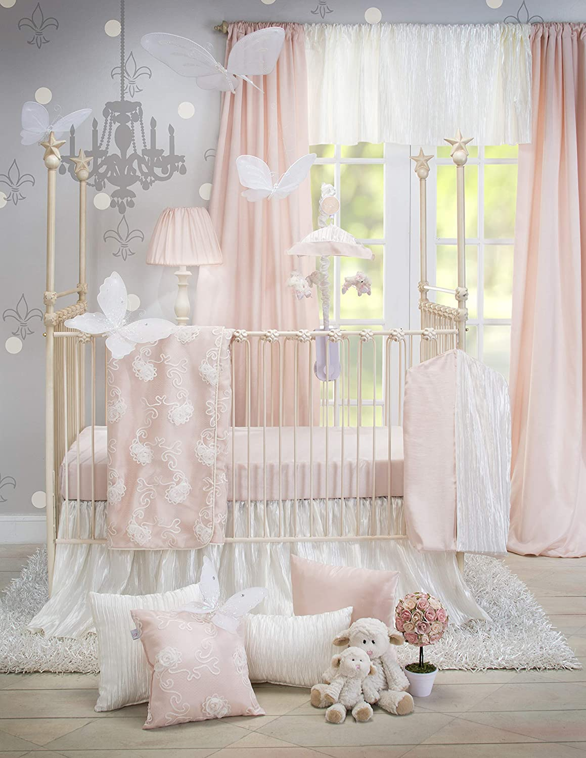 Crib Bedding Set Lil Princess by Glenna Jean | Baby Girl Nursery + Hand  Crafted with Premium Quality Fabrics | Includes Quilt, Sheet and Bed Skirt  ...