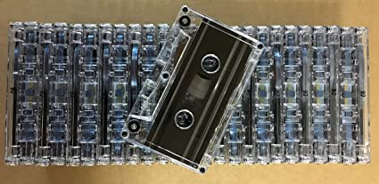 NRS HIGH ENERGY C-62min Blank Bulk Normal Bias CassettesBLACK 25PK