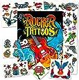 Rock Star Temporary Tattoos Party Favor Set (50 Rocker Tattoos)
