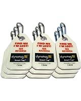 Dynotag Web/GPS Enabled QR Code Smart Micro Zipper Tags: 9 (3x3strip)+SnapHooks