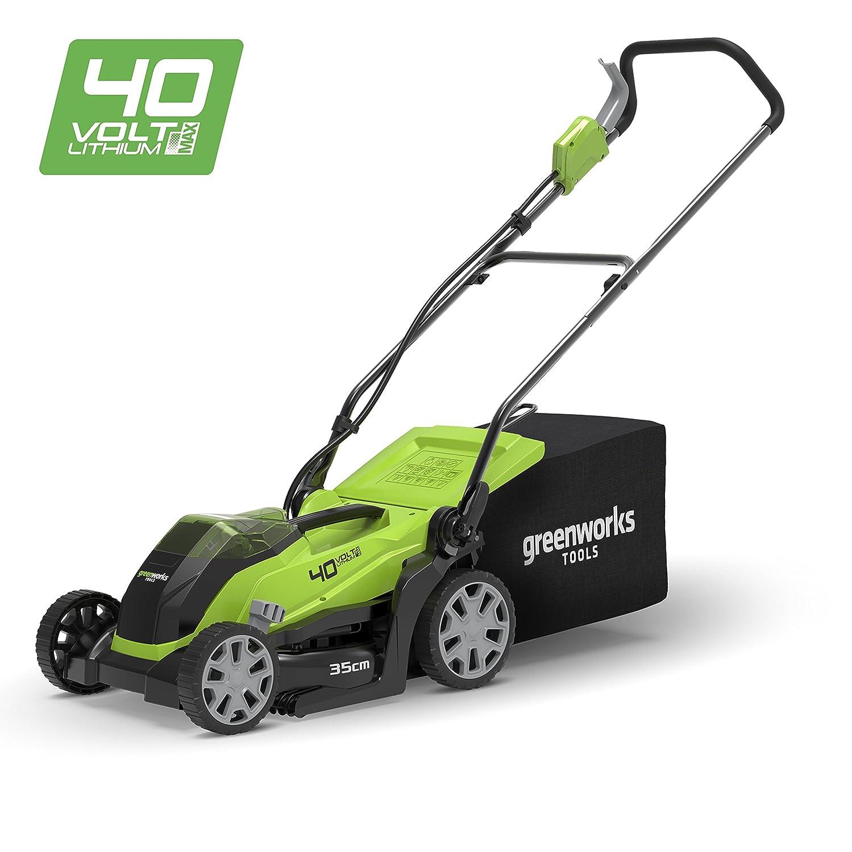 Greenworks Tondeuse à gazon sans fil sur batterie 35cm 40V Lithium-ion (sans batterie ni chargeur) - 2501907 Greenworks Tools